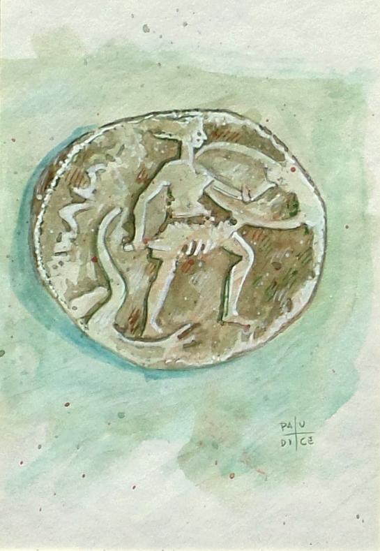 Vincenzo Paudice - Conio d'argento emesso da Tebe