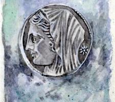 Vincenzo Paudice - Conio d'argento emesso nel III sec. a.C. dalla città di Siracusa