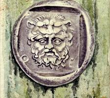 Vincenzo Paudice - Moneta tebana in argento con testa di Heracles