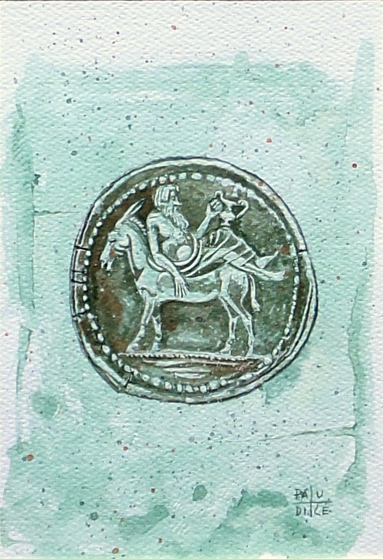 Vincenzo Paudice - Tetradracma macedone con effige di Dioniso