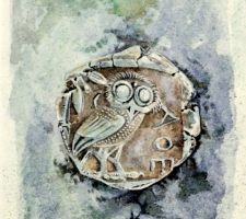 Vincenzo Paudice - Tetradracma ateniese d'argento con civetta