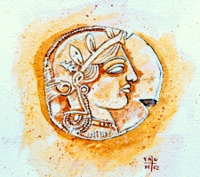 Vincenzo Paudice - Dracma d'argento con effige di Atena