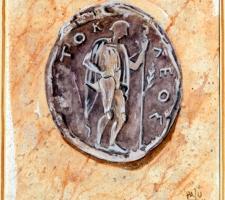 Vincenzo Paudice - Moneta ateniese con immagine di Teseo