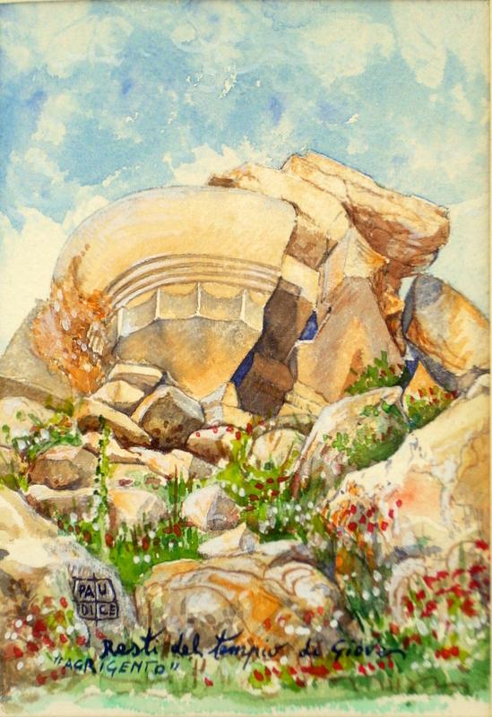 Vincenzo Paudice - Agrigento, Resti del tempio di Giove