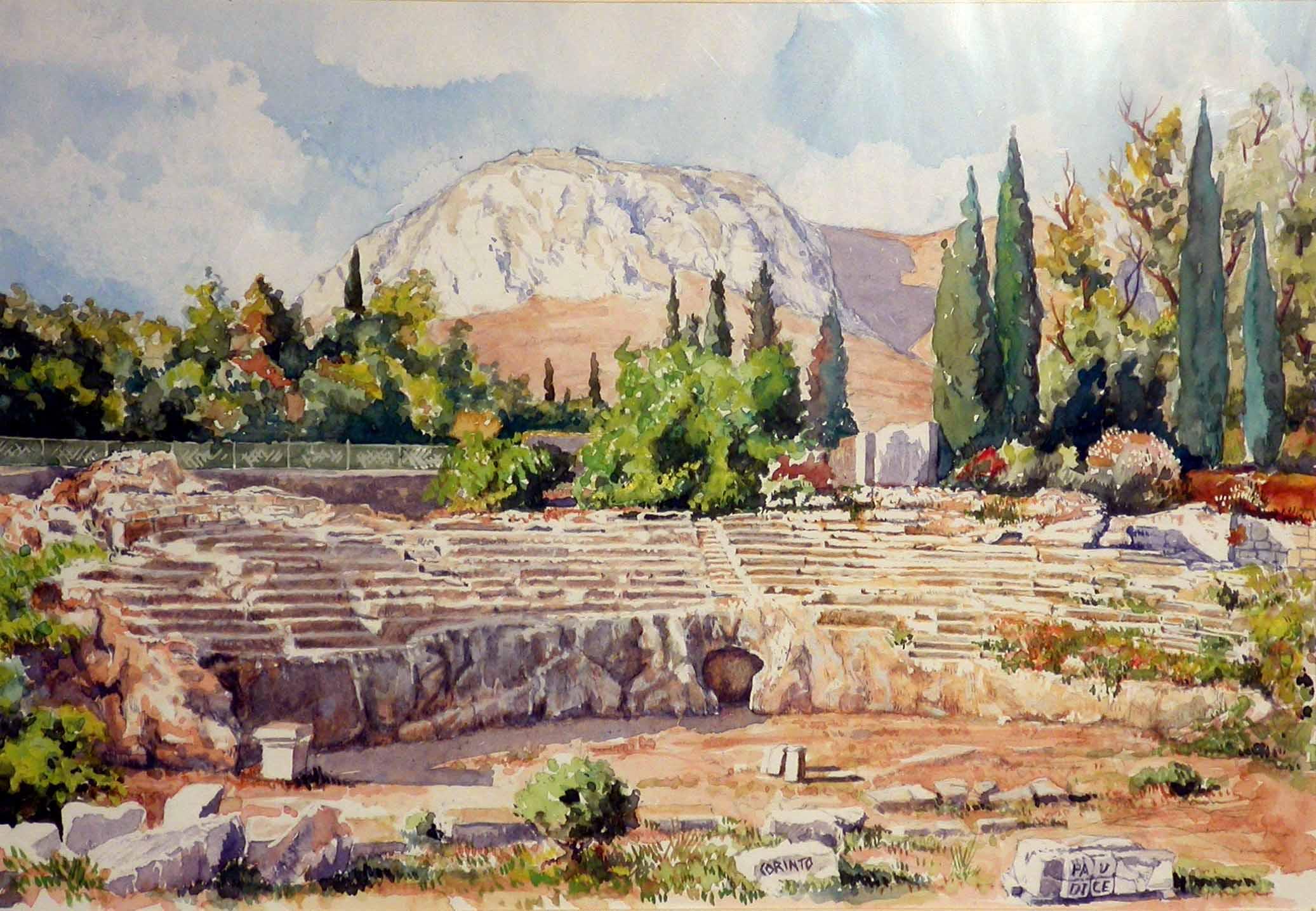 Vincenzo Paudice - Corinto, Odeon romano del I sec d.C.