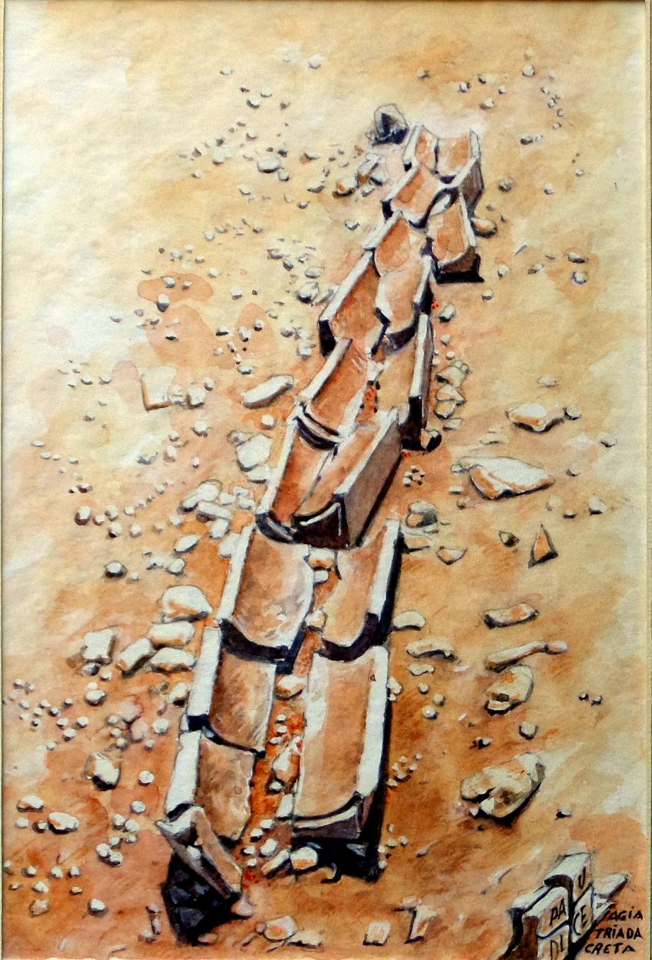 Paudice Vincenzo - Agia Triada, Resti di canalizzazione minoica