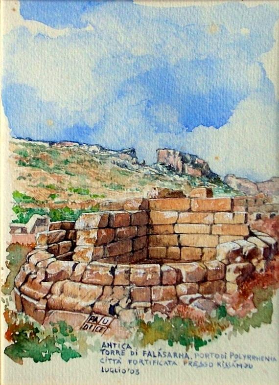 Paudice Vincenzo - Falasarna, Resti di una torre di difesa