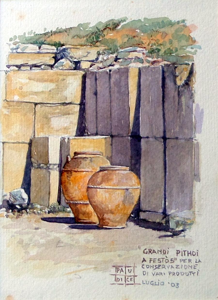 Paudice Vincenzo - Festo, Pithoi