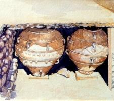 Paudice Vincenzo - Festo, Due grandi pithoi nei magazzini