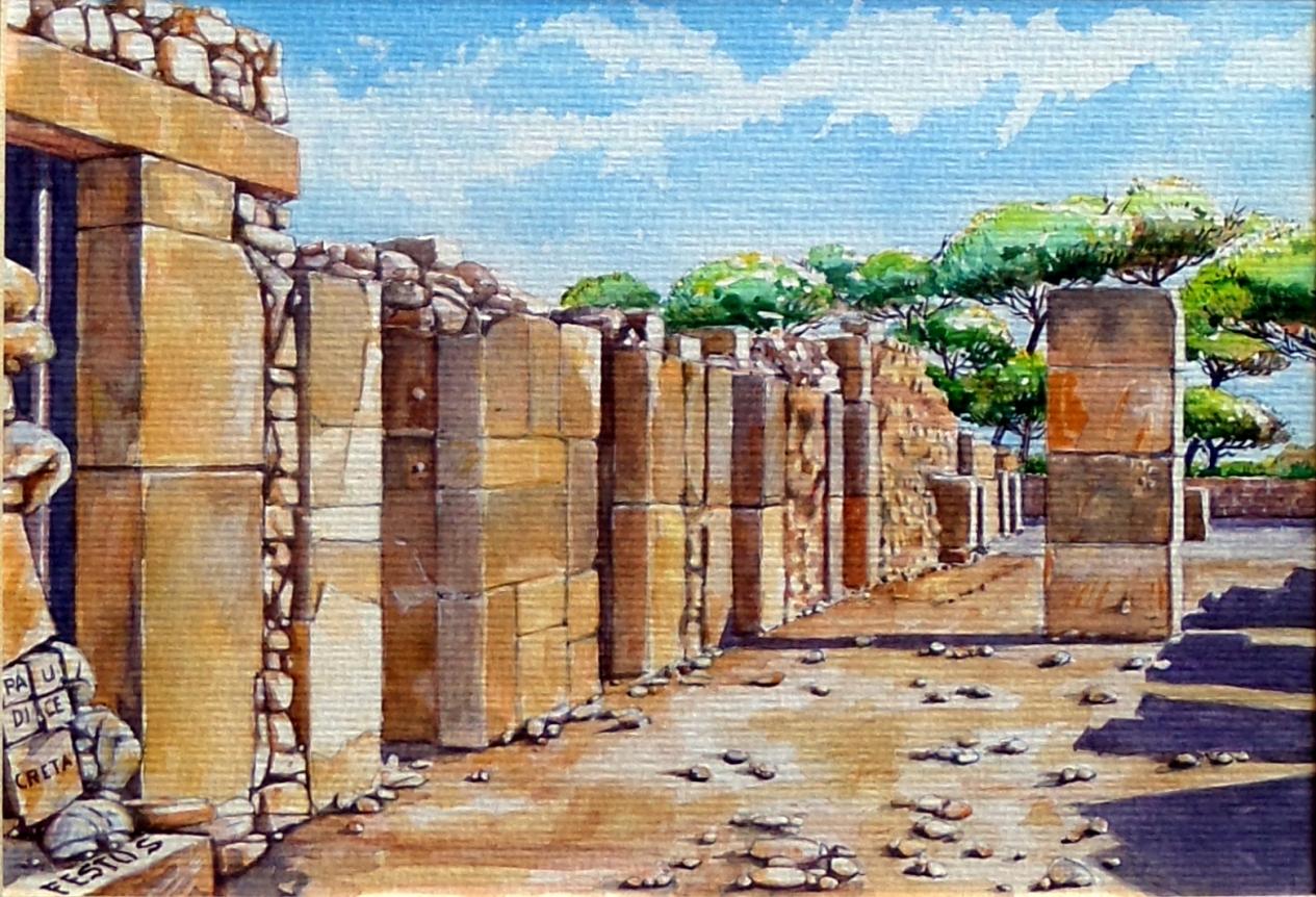 Paudice Vincenzo - Festo, Resti di abitazioni nel palazzo minoico