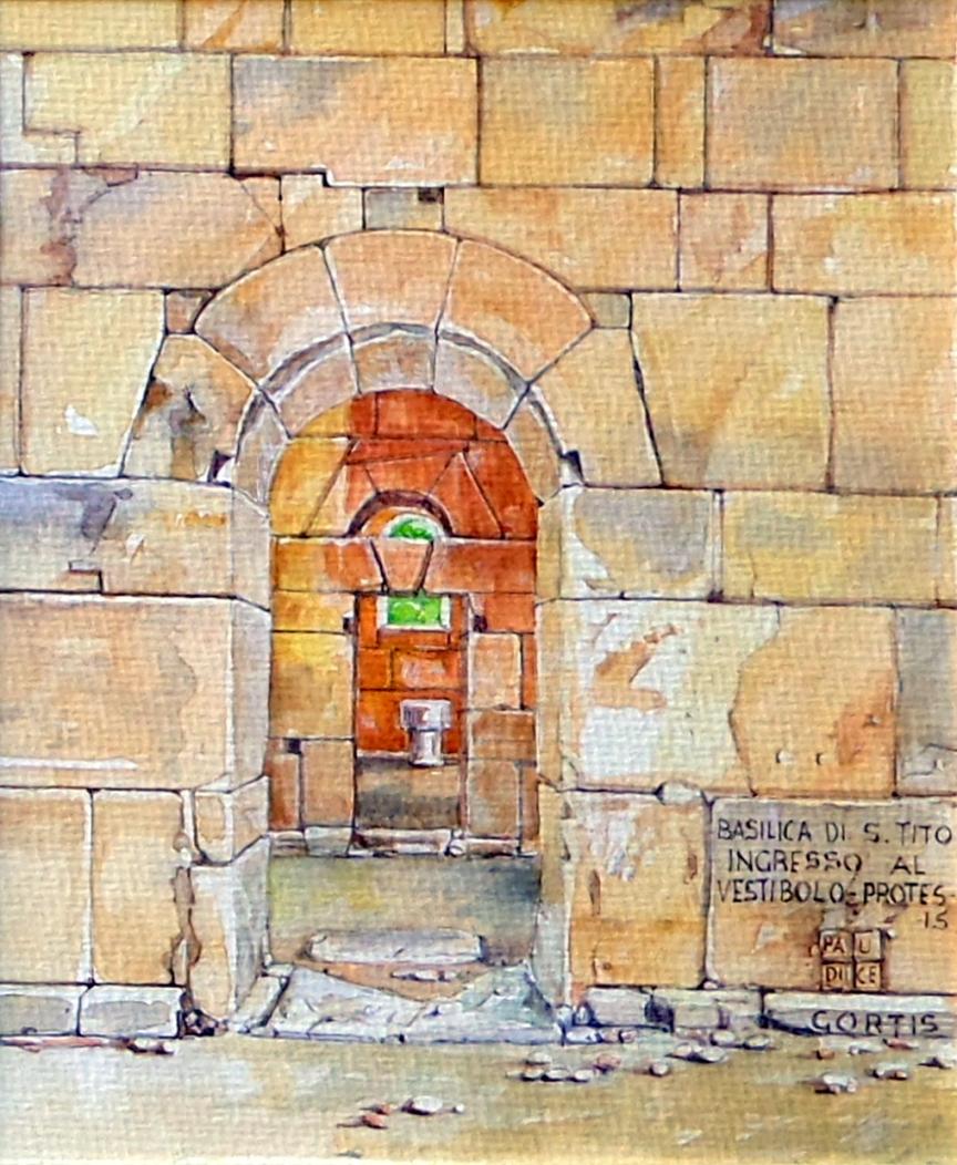Vincenzo Paudice - Gortyna, Basilica di San Tito, ingresso