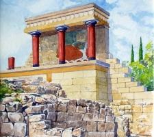 Vincenzo Paudice - Knossos, Ricostruzione di Evans