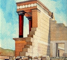 Vincenzo Paudice - Knossos, Parete ovest del palazzo