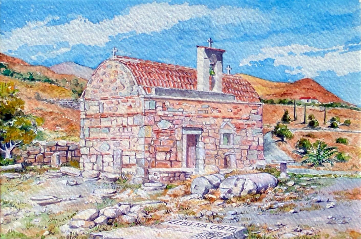 Vincenzo Paudice - Lebena, Chiesa cristiana sui resti del Santuario di Asclepio