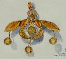 Vincenzo Paudice - Malia, Pendente minoico con api
