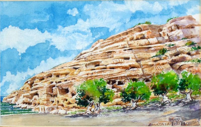 Vincenzo Paudice - Matala, Grotte neolitiche nel promontorio