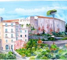 Vincenzo Paudice - Eboli, Castello Colonna e Via S. Sofia