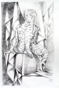 Vincenzo Paudice - Atelier, Modello vivente in posa
