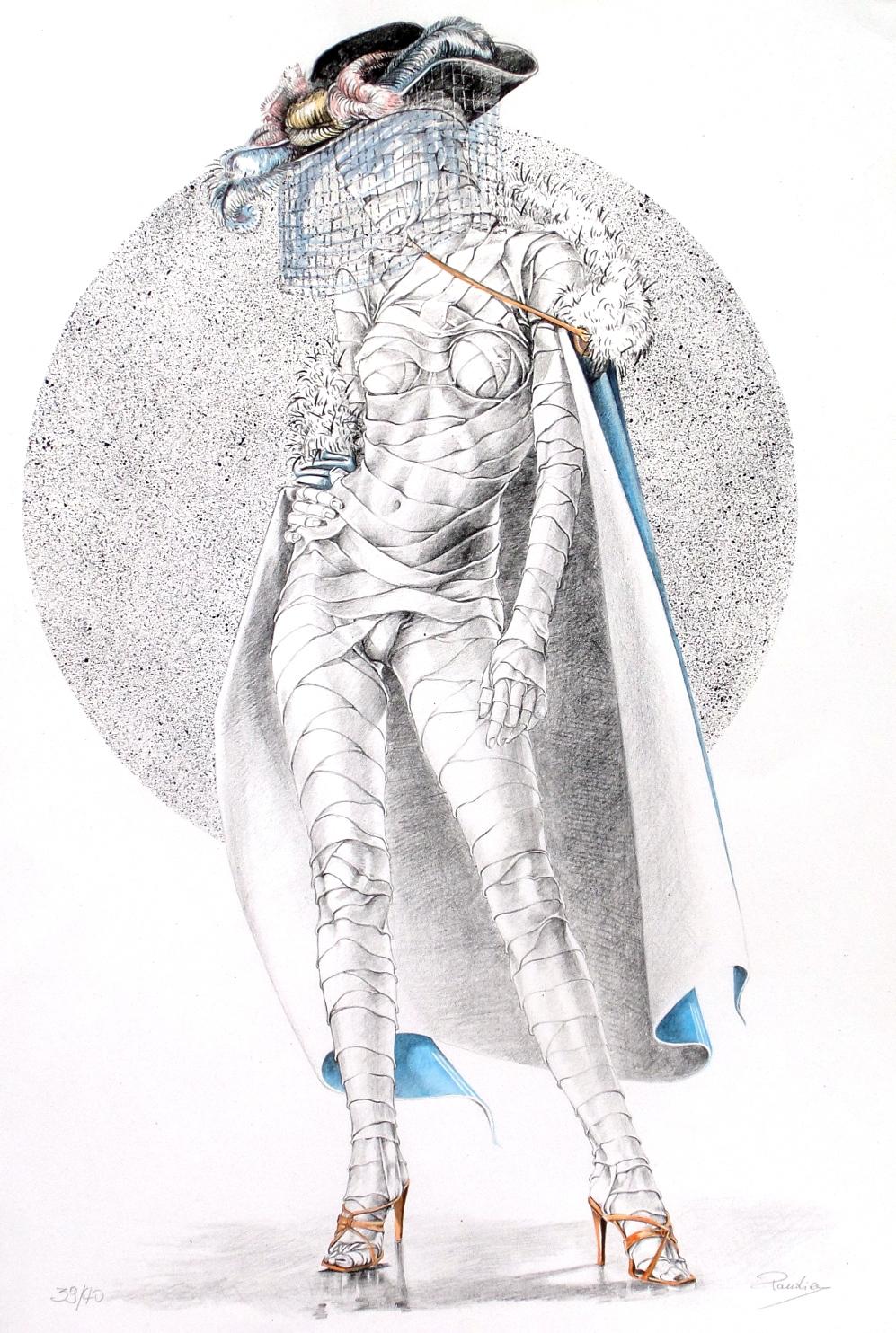 Vincenzo Paudice - Signora con tacchi a spillo ad una festa di beneficenza