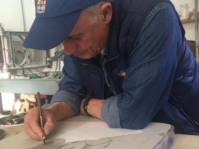 Vincenzo Paudice - Disegno su pietra litografica