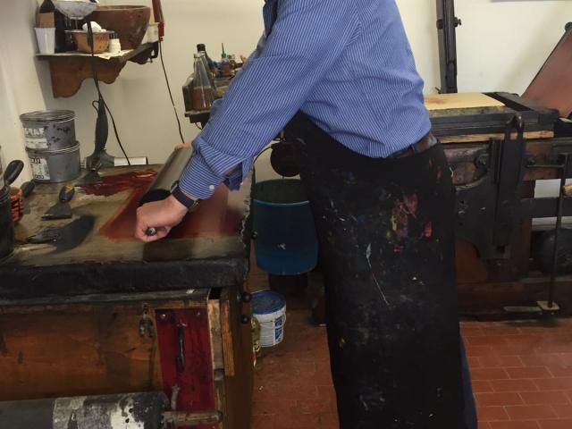 Vincenzo Paudice - Preparazione inchiostro litografico