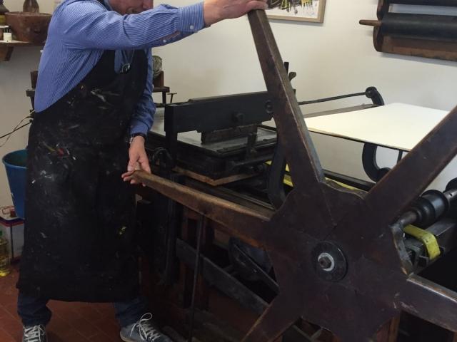Vincenzo Paudice - Stampa col torchio litografico