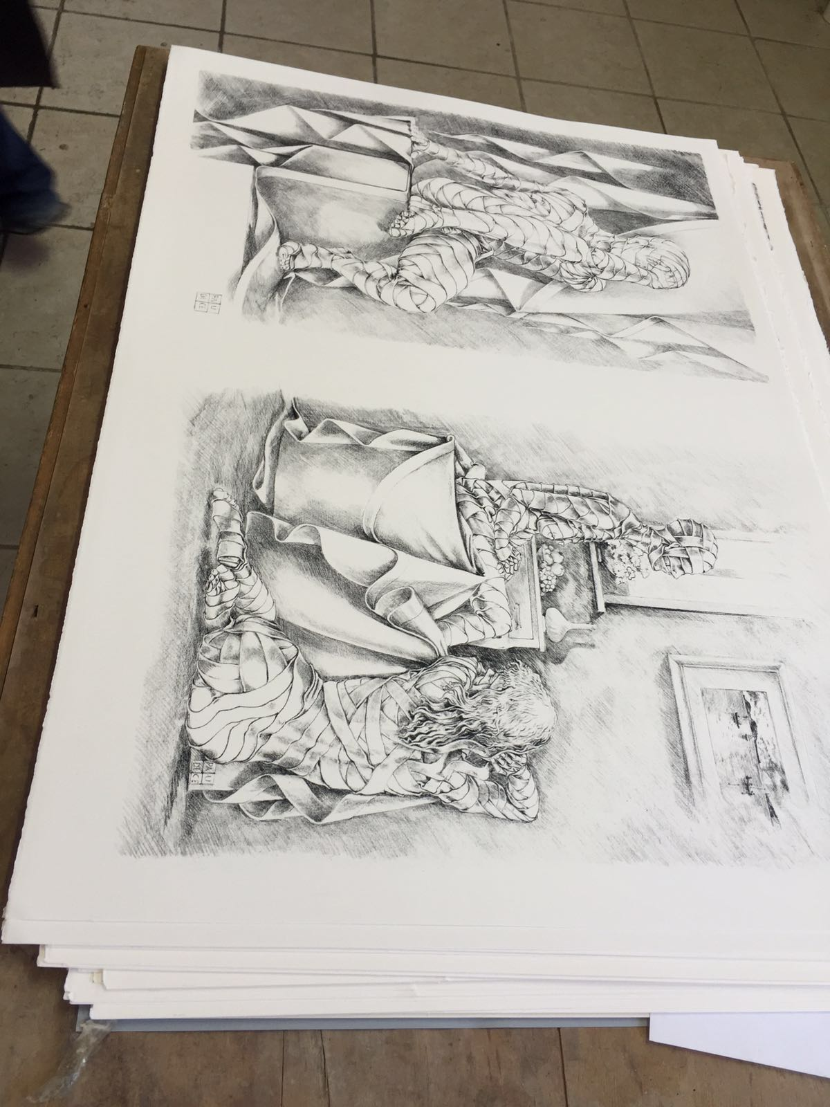 Vincenzo Paudice - La litografia finale